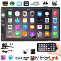 7 HD Player MP5 2 din car radio Touch Screen Display Mirror Link Bluetooth Multimedia USB Autoradio Rear View Camera 7010B