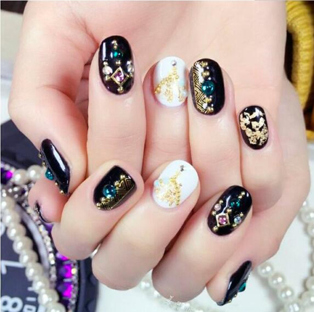 Nail Foil 2 Bottles Set Gold Silver Art Paillette Flake Chip Kit Acrylic Gel Stickers For Nails Makeup In Decals From