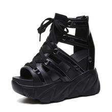 הו תרומה קומפורטי נעלי נשים מאפין תחתון טריזי עקבים קיץ נעלי נשי לנשימה סנדלי נשים אופנה פלטפורמת סנדלים