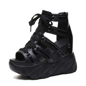 Image 1 - הו תרומה קומפורטי נעלי נשים מאפין תחתון טריזי עקבים קיץ נעלי נשי לנשימה סנדלי נשים אופנה פלטפורמת סנדלים