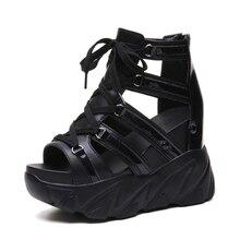Ho Ağır Konforlu Ayakkabı Kadın Muffin Alt Takozlar Topuklu Yaz Ayakkabı Kadın Nefes Sandalet Kadın Moda platform sandaletler