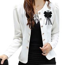BFYL women summer style clothing outerwear slim women coat jacket feminine women blazer white 2XL