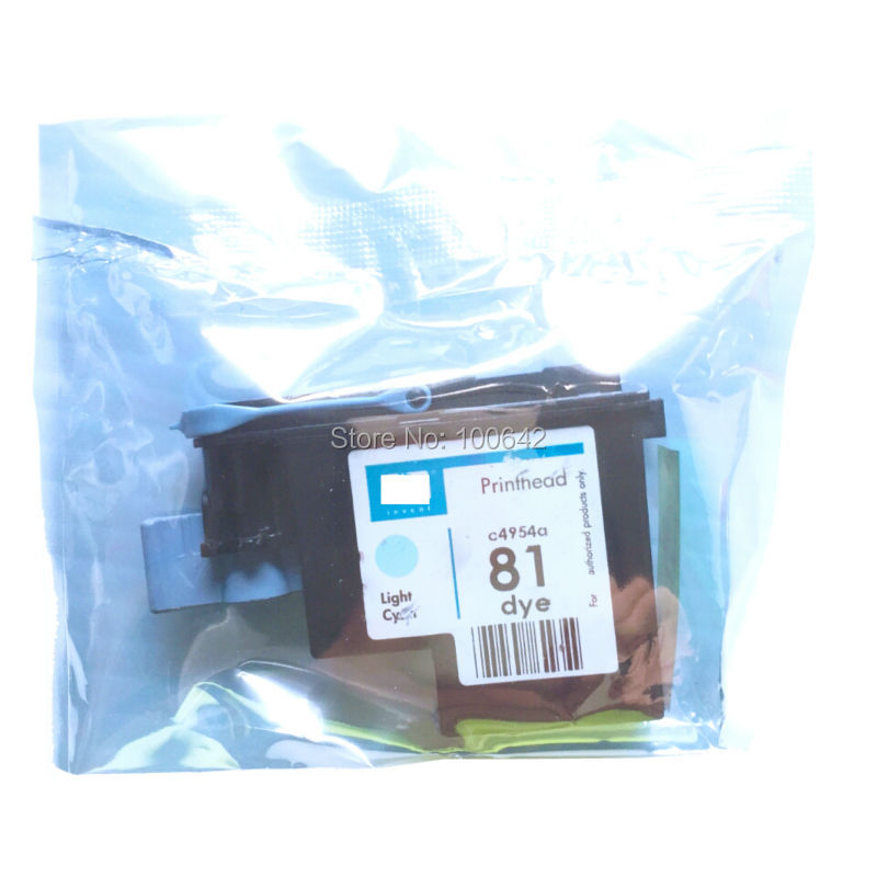 1 pcs Light Cyan C4954A 81 printhead Designjet 5000 5000ps 5500 5500ps Remanufactured Printer head for HP 81 HP81