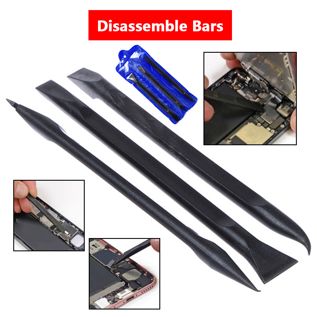 Safe Heavy Duty Plastic Spudger Set 3pcs ESD For Mobile Phone Tablet Opening Repair Tool Durable Anti-static Spudger Hand Tools