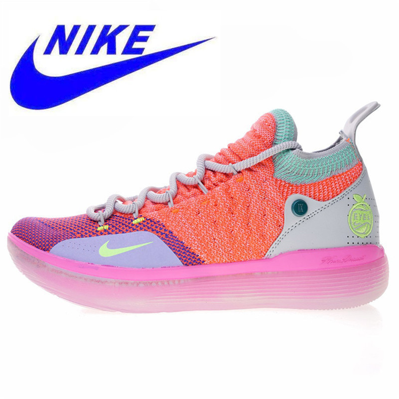 bd57381d33bfa Nike Zoom KD11 'EYBL' 11 Men's Basketball Shoes, Orange, New Sports Shoes  Shock Absorption Breathable Non slip AO2604 600-in Running Shoes from  Sports ...