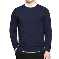 Spring mens pullover sweaters Simple style cotton O neck sweater jumpers Autumn Thin male knitwear T110