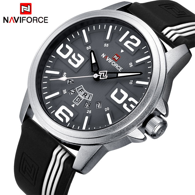 Mens Watches NAVIFORCE Brand Men Waterproof Fashion Casual Sport Watch Man Quartz Clock Leather Wristwatches Relogio Masculino top brand naviforce nylon band sport watch fashion casual mens military calender clock man quartz wrist watch relogio masculino