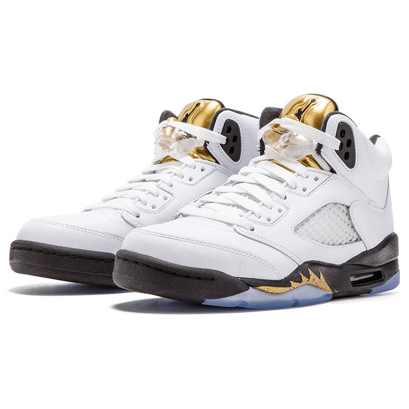 Nike Air Jordan 5 Retro Olympic AJ5 Joe 5 Olympic Gold Medal In Men s  Basketball Shoes 8ad76cdec