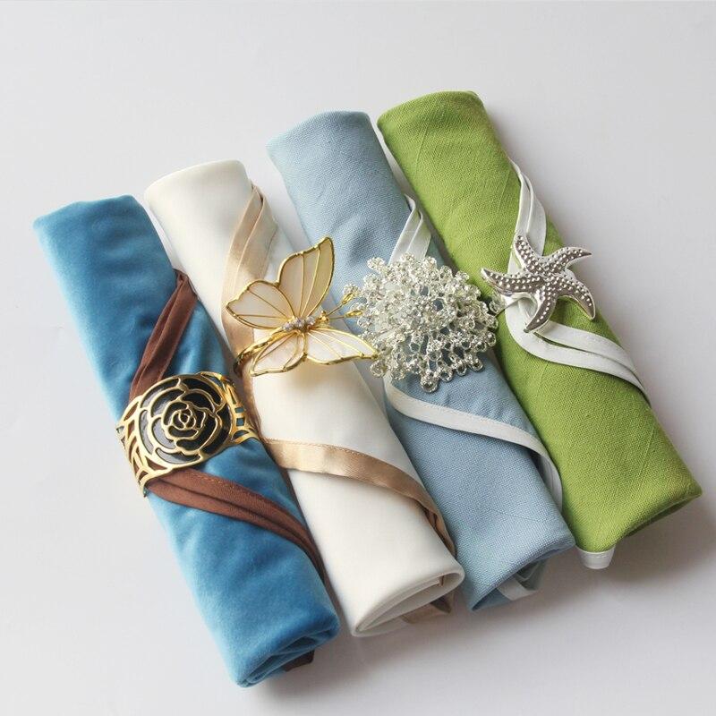 2Pc 45cmX45cm American Style Napkin Cloth Fashion Western Table Napkin Wedding Hotel Accessories Supply
