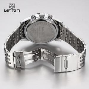 Image 5 - MEGIR new fashion quartz watch man business wristwatch for male luminous analog watches men chronograph calendar hour clock hot