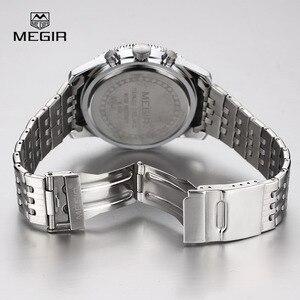 Image 5 - Megir relógio de pulso masculino, relógio novo de quartzo com pulseira luminosa e analógico, cronógrafo para homens, hora de calendário, imperdível