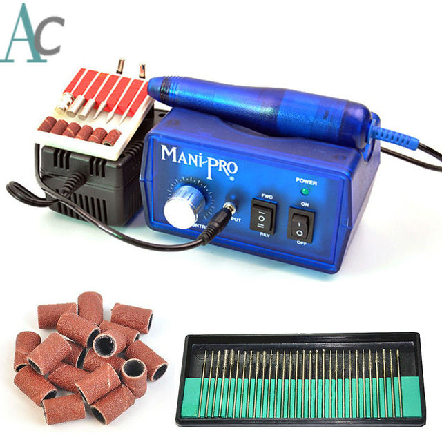 Nail Tools Electric Nail Drill Machine 20000RPM Blue Nail Art ...