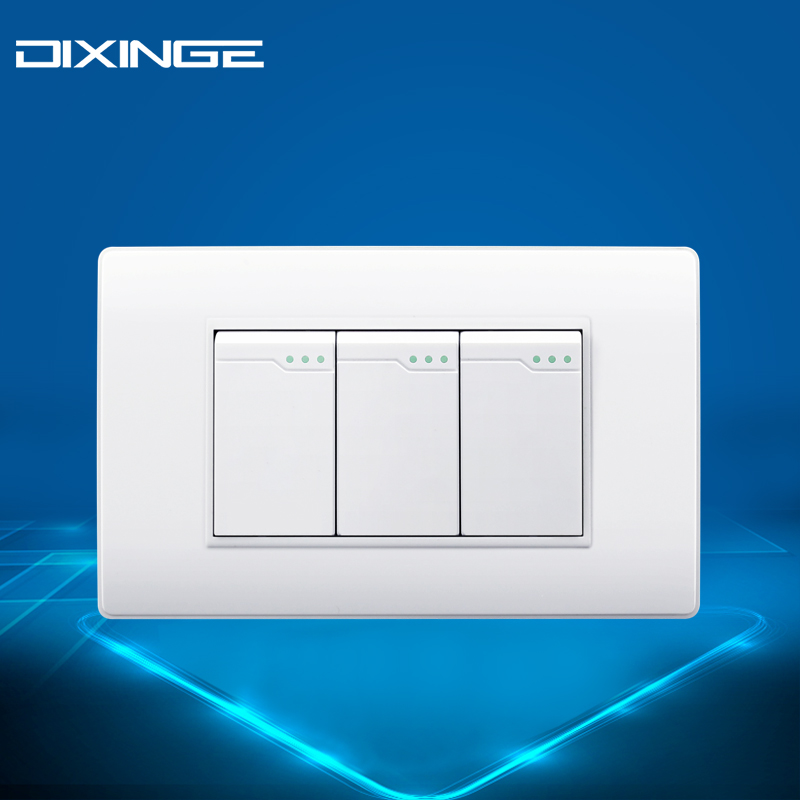USA Water Proof Switch porcelain white 3 way Single Control Switch ...