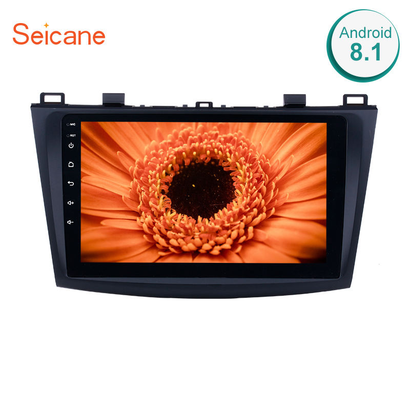 Seicane For 2009 2010 2011 2012 MAZDA 3 auto stereo unit multimedia 9 Inch Quad core