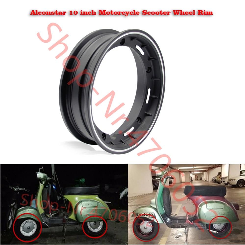 Jante de roue de Scooter de moto de 10 pouces pour Piaggio Vespa PX LML T5 PX125 150 200 T5 ET3 avec écrou, Oring, tige de Valve