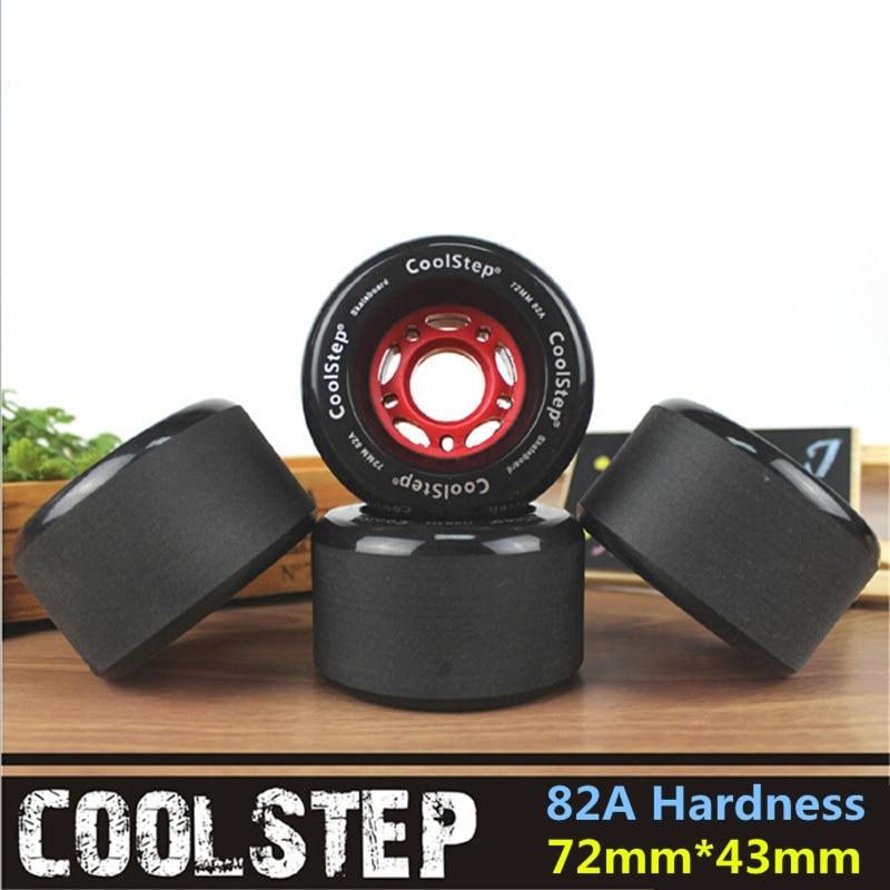 4 Pcs/lot Frosted Surface Skate Board Wheel With 72mm 70mm Diameter Skateboard Rodas 82A Black Long Drift Board Accessories
