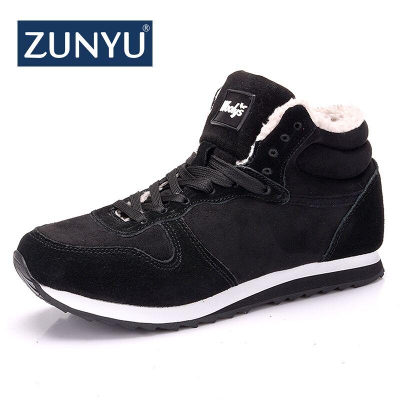 ZUNYU New Couple Unisex Boot Fashion Men Winter Snow Boots keep Warm Boots Plush Ankle Snow Work Shoes Men's Snow Boots 36-48 цена