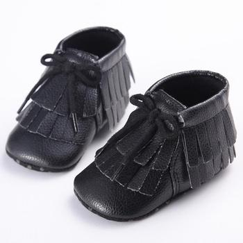 New Shine black  Leather Baby moccasins First Walkers Soft Rose gold Baby girl shoes infant Fringe Shoes 0-18 month 17Dec29 online shopping in pakistan with free home delivery