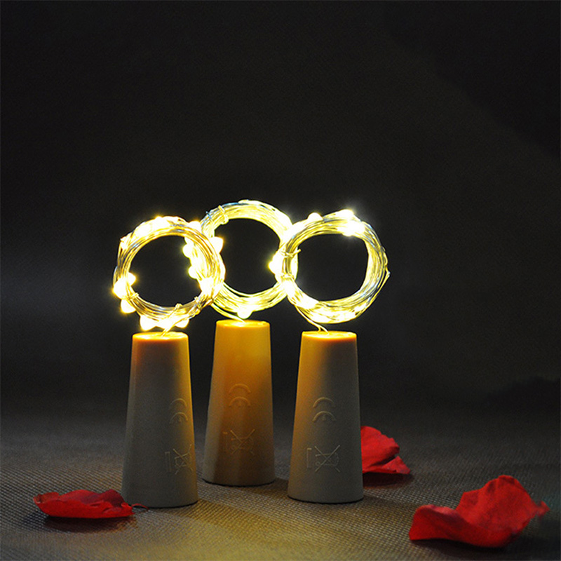 9Pcs Wine Bottle Cork String Lights 2M/20 LEDs Copper Wire For Halloween Christmas Party DIY Decor MAL999