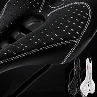 New Arrival Super Light PU Cycling Saddle 2 Colors MTB Seat Cool Mountain Microfiber Road Bicycle