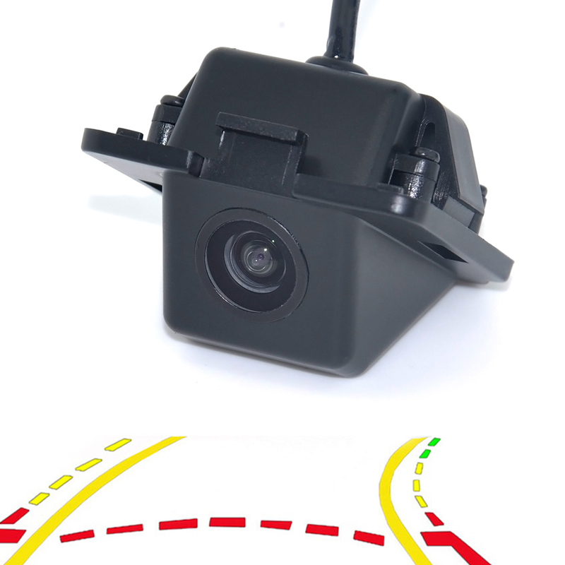 WF Intelligent Dynamic Trajectory Tracks Parking Line Reverse Rearview Parking Camera For Mitsubishi Outlander 2007-2015