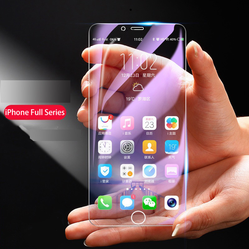 iPhone XS MAX Eyecare Purple Screen Protector for iPhone 8 Xr Xs XsMax Tempered Glass and iPhone Full Series Screen Protector