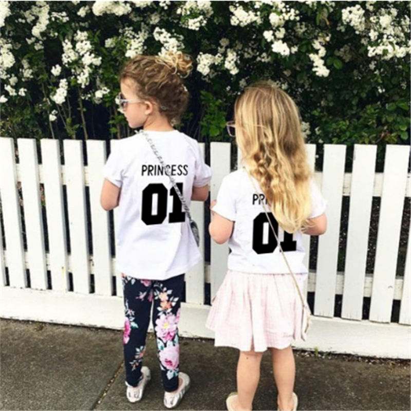 T-Shirt Number-Print Boys Clothes Princess-Clothing Birthday White-Color Kids Cotton
