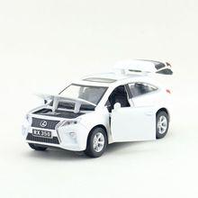1:32 ölçekli Lexus RX350 SUV spor oyuncak araba Diecast araç modeli geri çekin ses ve ışık eğitim koleksiyonu hediye çocuk