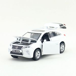 Image 1 - Scala 1:32 Lexus RX350 SUV Sport Toy Car Diecast modello di veicolo tirare indietro suono e luce collezione educativa regalo per bambino