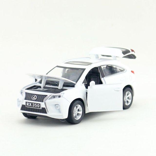 Scala 1:32 Lexus RX350 SUV Sport Toy Car Diecast modello di veicolo tirare indietro suono e luce collezione educativa regalo per bambino
