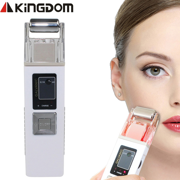 2017 KINGDOM Galvanic Microcurrent Skin Firming Machine Iontophoresis Anti-aging Massager Skin Care SPA Salon Beauty Equipment