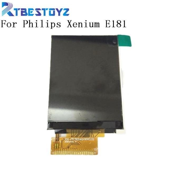 % 100% Test Için Üst LCD Ekran Philips Xenium E181 LCD ekran Ekran Monitör Smartphone Yedek Parçalar
