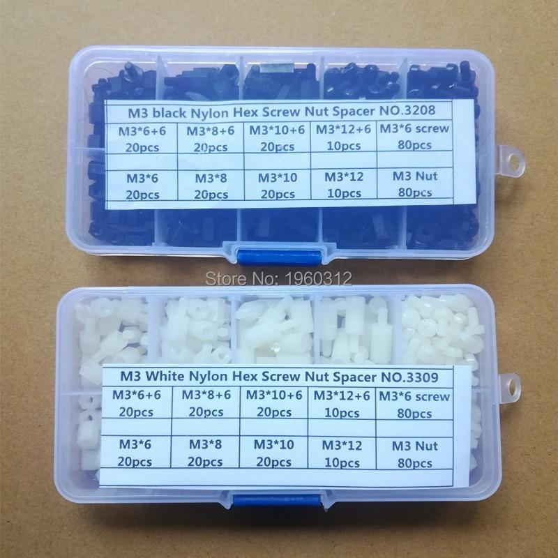 10 pack of M3 Nylon Plastic Full HEX Nuts