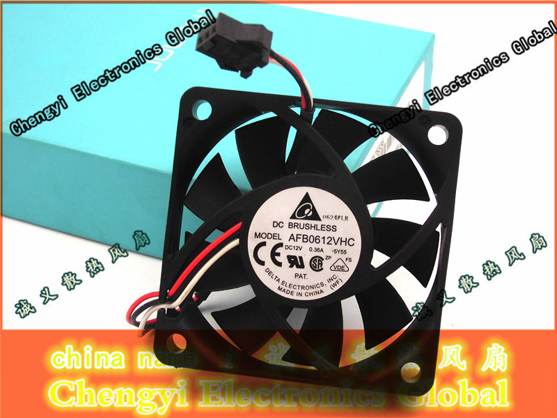 FREE SHIPPING Delta AFB0612VHC 5Y55 60mm DC12V 0.36A Cooling FAN