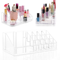 Multifunction Acrylic Clear Makeup Case Cosmetic Organizer Jewelry Holder