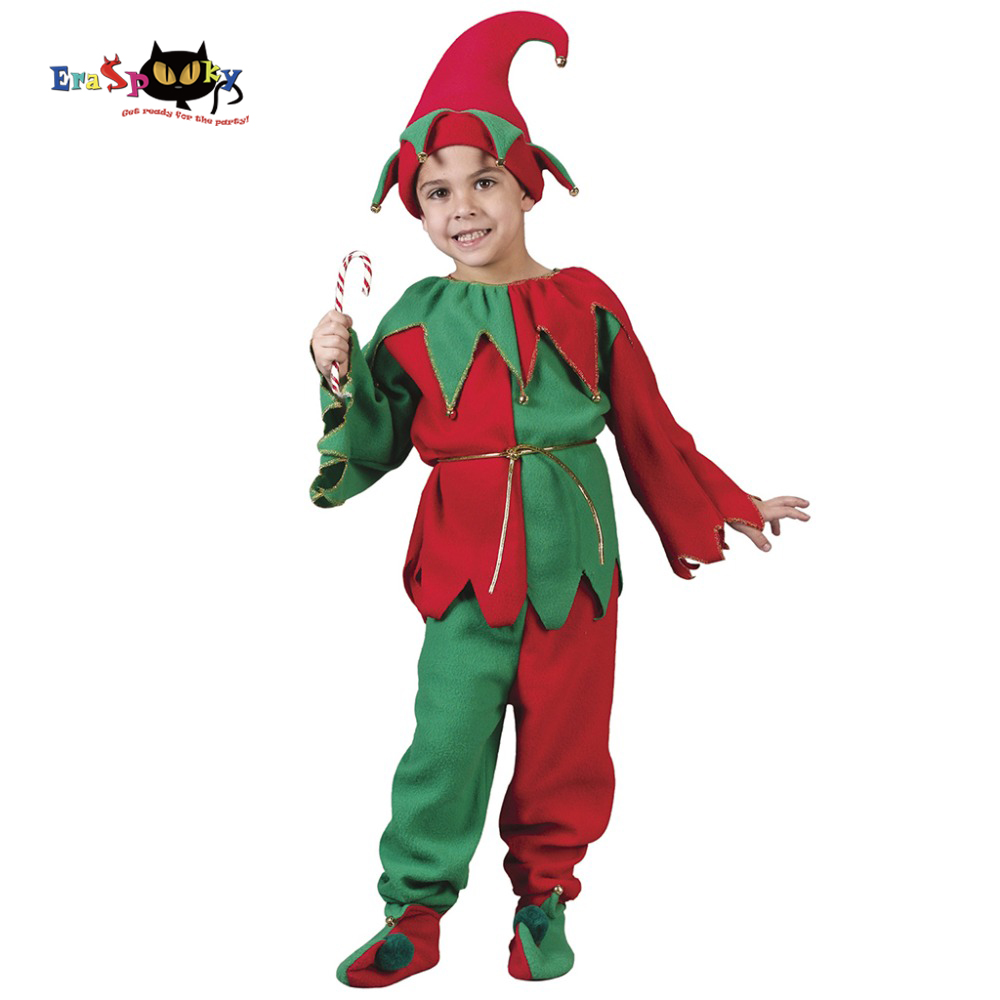 Girls Costumes Cheap Price Eraspooky Santa Claus Dress Girls Christmas Elf Costume Children New Year Carnival Fancy Dress Disguise Festival Cosplay Hat