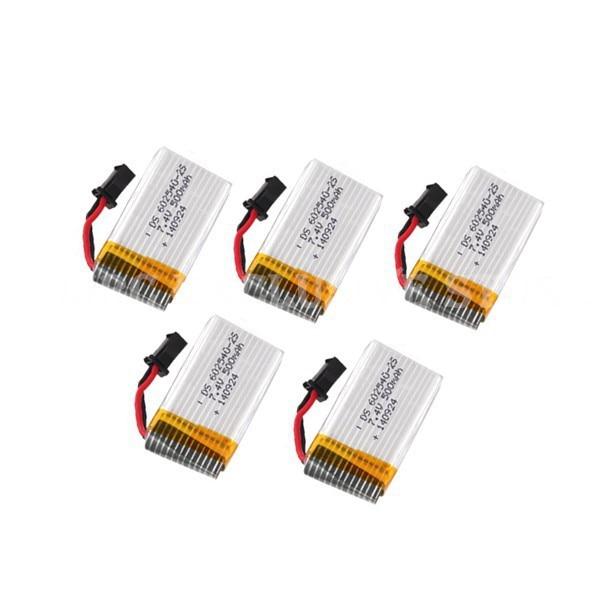 5PCS JJRC H8C H8D <font><b>battery</b></font> 5pcs/lot 7.4V <font><b>500mAh</b></font> Lipo <font><b>Battery</b></font> JJRC H8C Spare Parts H8C-10 DFD F183 <font><b>battery</b></font> (In stock)
