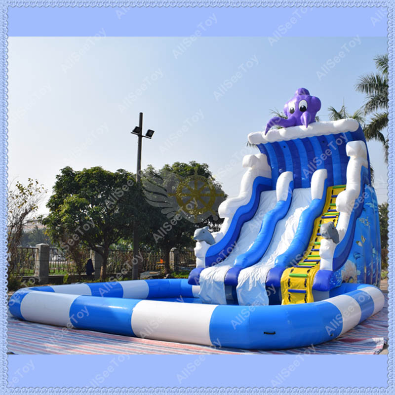giant octopus inflatable pool slide inflatable water slide for kids in inflatable bouncers from toys hobbies on aliexpresscom alibaba group
