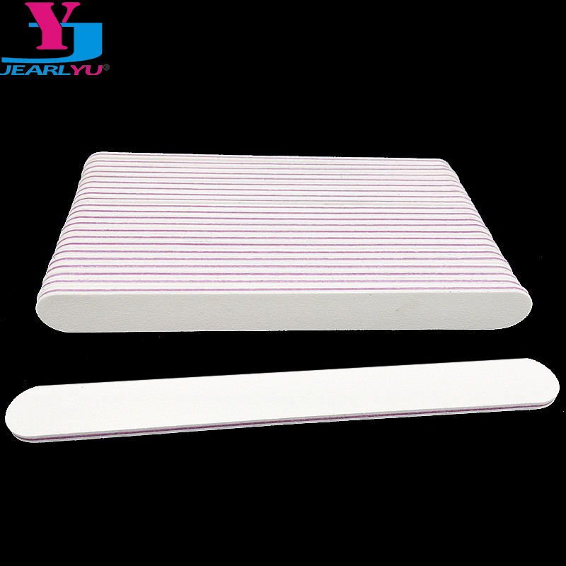 50pcs Professional Nail File White 100 180 Buffer Block For Manicure UV Gel Polisher Polish Cuticle Remover Trimmer Buffing Tool in Nail Files Buffers from Beauty Health