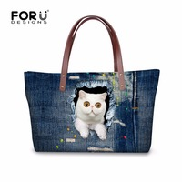 Designer Handbags High Quality Women Handbags Bolsas Denim Cowboy Ladies Purses And Handbags 3D Animal Cat