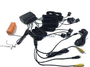 Image 5 - Auto Sensore di Parcheggio Display LCD monitor Parktronic sensore rilevatore di auto 6 Colori di Sostegno 8 sensori 12V inversione di sostegno