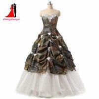 Camuflaje Vestidos de Novia De Novia Largo Barato Rebordeado del vestido de Bola Plus Tamaño Vestido de Casamento vestido De Noiva Robe De Mariage 19