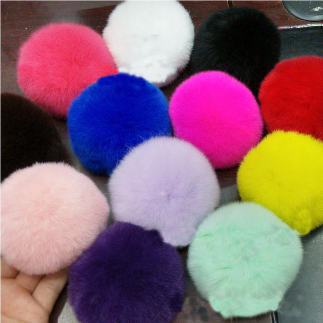 Sale Imitate Artificial Rabbit Fur Rope Elastic Band Hair Bobble Rings Ball  Accessories Fluffy Mixed Headwear 7f98f96e1435
