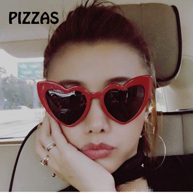 PIZZAS Love Heart Sunglasses Women Cat Eye Vintage Sun Glasses Christmas  gift Heart shape Party Women Oculos De Sol mujer female-in Sunglasses from  Women s ... 8eca32d16b