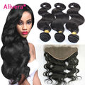 Stema Hair Brazilian Body Wave Lace Frontal Closure With Bundles 7a Grade Brazilian Virgin Hair Tissage Bresilienne Avec Closure