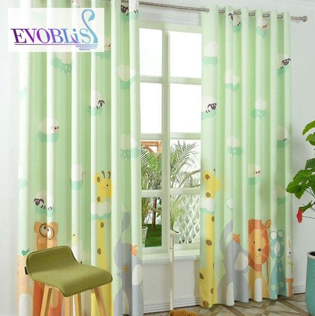 Moderno tende verdi per tende camera da letto per bambini baby room tende blackout cortinas - Tende camera ragazzi ...