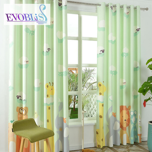 Modern Green Curtains For Bedroom Curtains For Children Baby Room Curtains  Blackout Cortinas Rideaux Enfant Kids Room Curtains