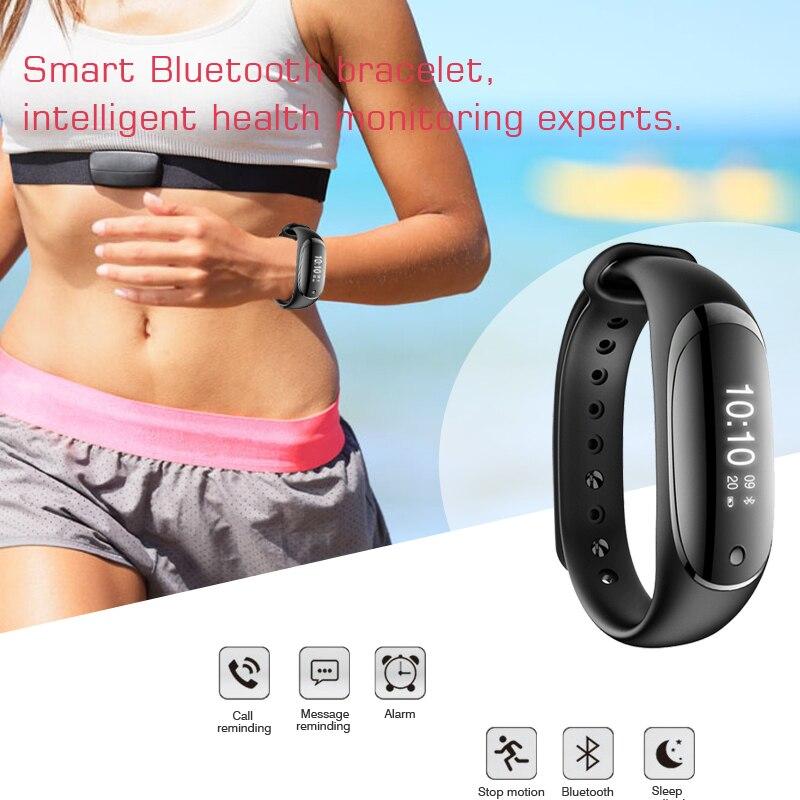 2017 new arrival IP67 Waterproof Bluetooth Smart Band Wristband Heart Rate monitor blood pressure Smartband Bracelet