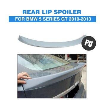 Spoiler Belakang Trunk Boot Bibir Sayap untuk BMW Seri 5 F07 GT Gran Turismo 2010-2013 Pu Abu-abu Bagasi trim Stiker Custom Spoiler