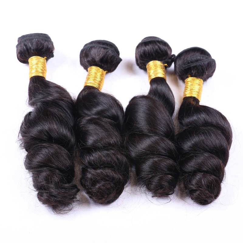 "UEENLY Brazilian Hair Weave Bundles Remy Loose Wave 3/4 Bundles 100% Human Hair Extensions 8""-28"" Inch Double Weft"